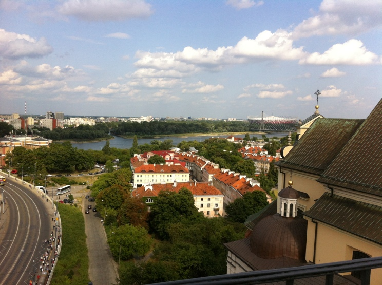 Warsaw from the top