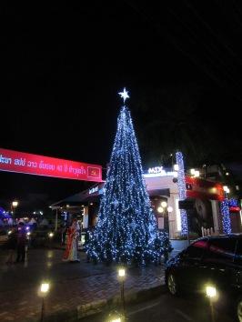 Xmas tree in Vientiane