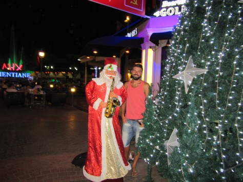 Gios and Santa in Vientiane
