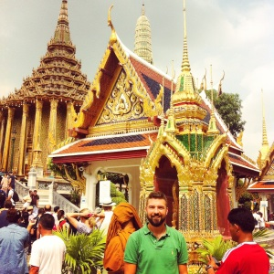 Gios at the Emerald Buddha Temple in Bangkok